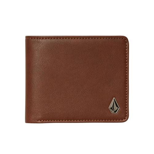 Volcom Bifold Wallet ~ Slimstone brown