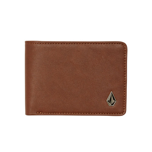 Volcom Bifold Wallet ~ Stranglong brown