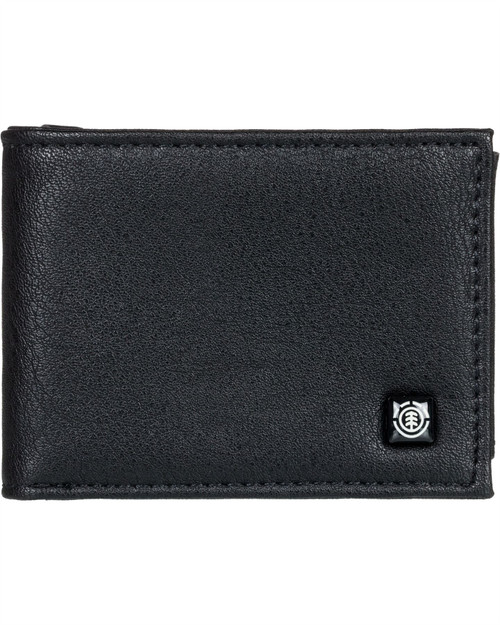 Element Bifold Wallet with CC, Note and Coin Pockets ~ Segur flint black
