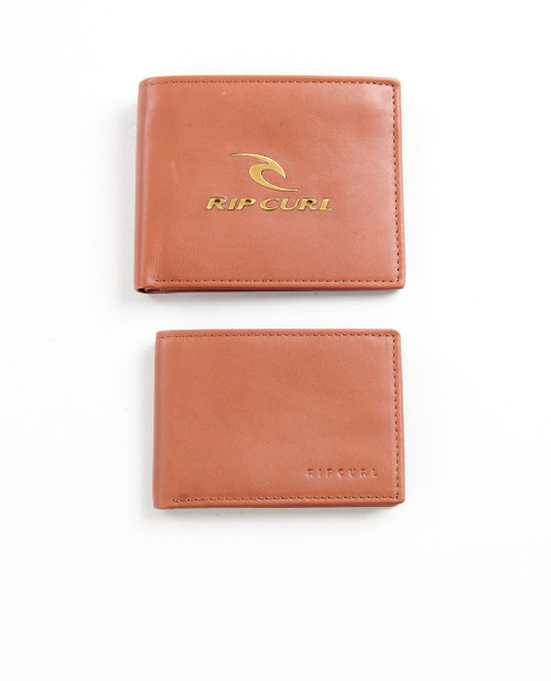 2 Rip Curl Leather Men's Wallets With RFID ~ Corpowatu brown