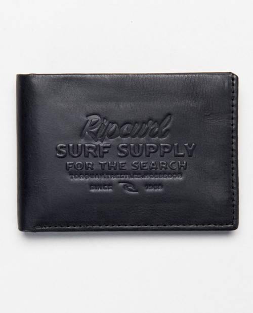 Rip Curl Leather Men's Wallet With RFID ~ Surf Supply black