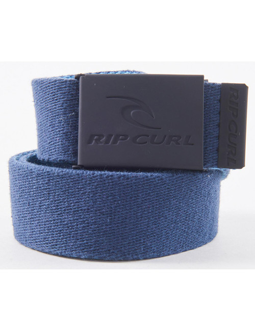 Rip Curl Woven  Reversible Web Belt With Bottle Opener ~ Snap Revo blue