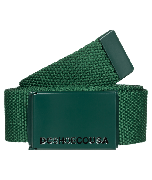 DC Shoes Woven  Web Belt With Bottle Opener ~ Web 2 green