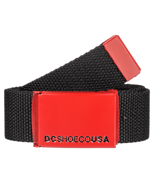 DC Shoes Woven  Web Belt With Bottle Opener ~ Web 2 black red