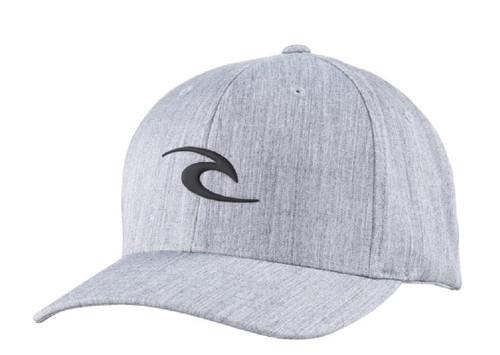 Rip Curl Men's Flexfit Cap ~ Tepan Weld light grey
