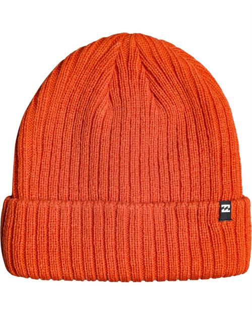 Billabong Knitted Cuff Beanie ~ Arcade orange2