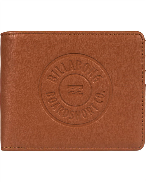 Billabong Men's Trifold Wallet ~ Walled ID tan