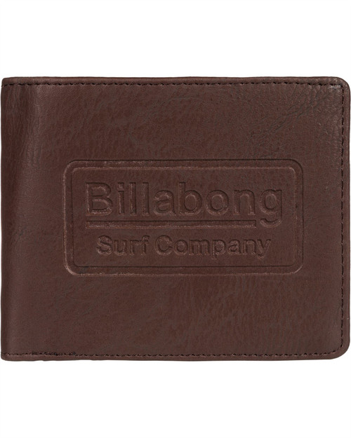 Billabong Men's Trifold Wallet ~ Walled ID chocolate
