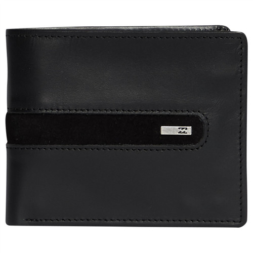 Billabong Men's Leather Trifold RFID Wallet ~ Dbah black