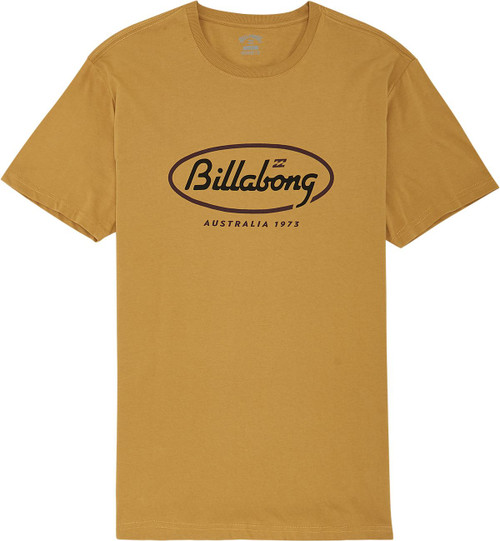 Billabong Men's Premium T-Shirt ~ State Beach gold