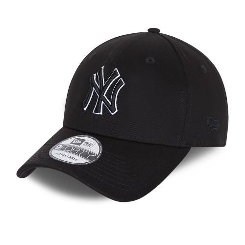 New Era Black Base 9Forty Snapback cap ~ New York Yankees black