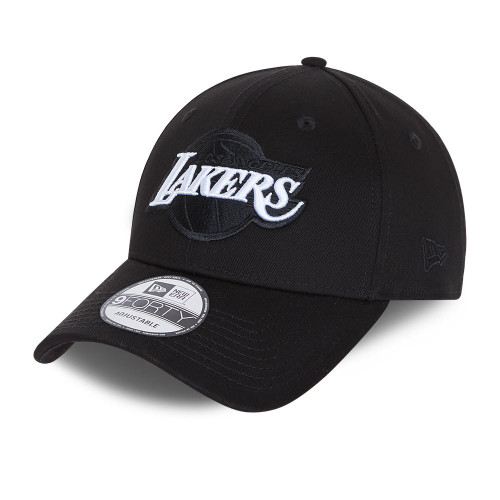 New Era Black Base 9Forty Snapback cap ~ LA Lakers black