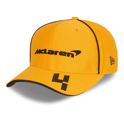 New Era Replica Driver Hex 9FiftySS Snapback Cap ~ McLaren No. 4 orange