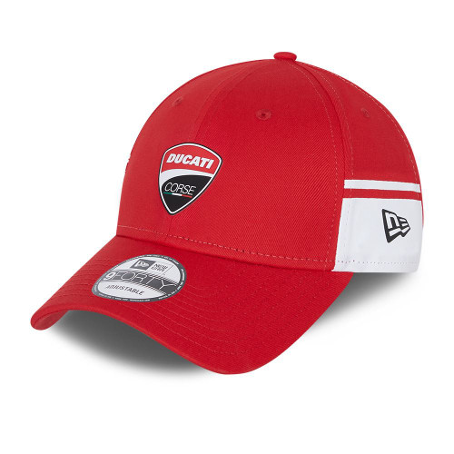 New Era Side Print 9Forty Adjustable Cap ~ Ducati red