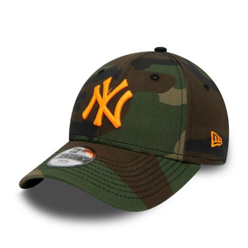New Era Camo Essential Kids 9 Forty Cap ~ New York Yankees green