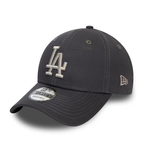 New Era Colour Essential 9Forty Adjustable Cap ~ LA Dodgers mid grey