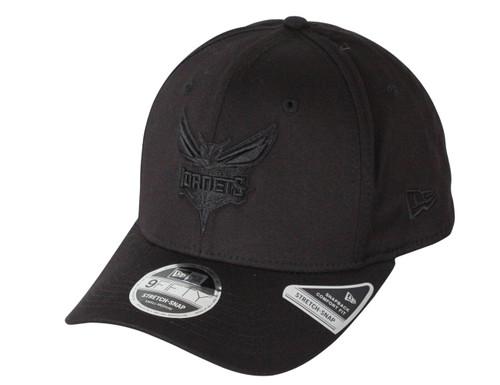 New Era Tonal Black 9Fifty Stretch Snapback Cap  ~ Charlotte Hornets