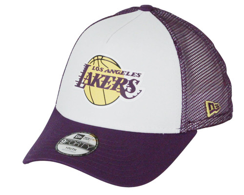 New Era Kids Team Colour Block Trucker Cap ~ LA Lakers