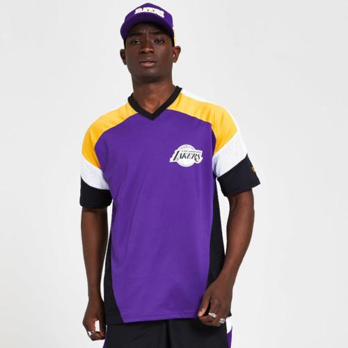 New Era Men's NBA Diagonal Panel Oversized T-Shirt ~ LA Lakers