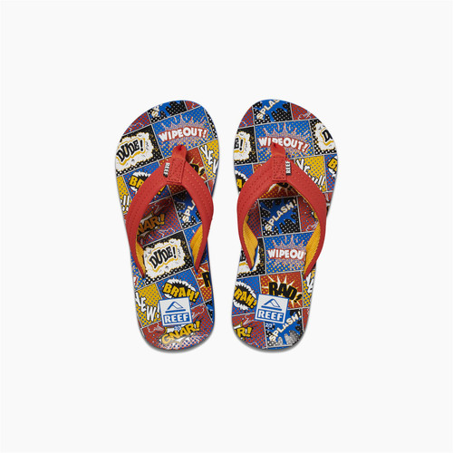 Reef Kids Sandals ~ Ahi Comic Book