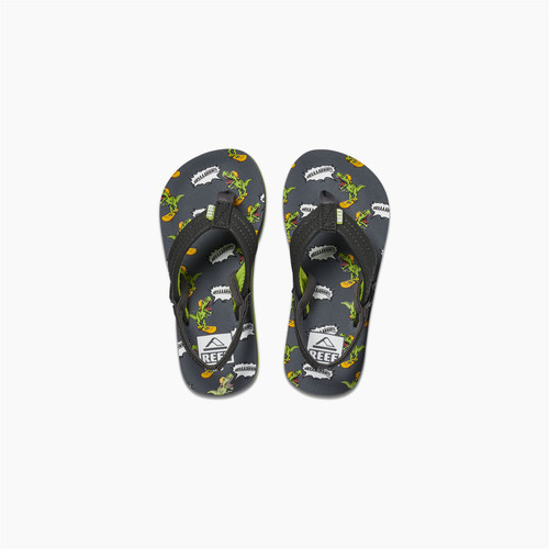 Reef Kids Sandals ~ Little Ahi Dino Brah