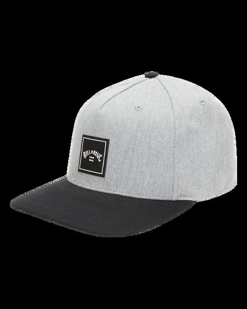 Billabong Mens Snapback Cap ~ Stacked grey heather
