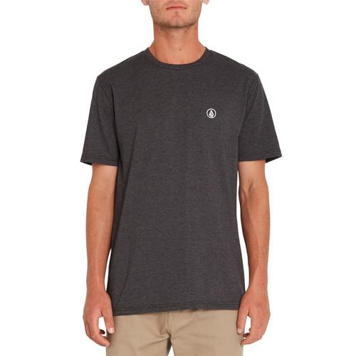 Volcom Men's Heather T-Shirt ~ Circle Blanks black