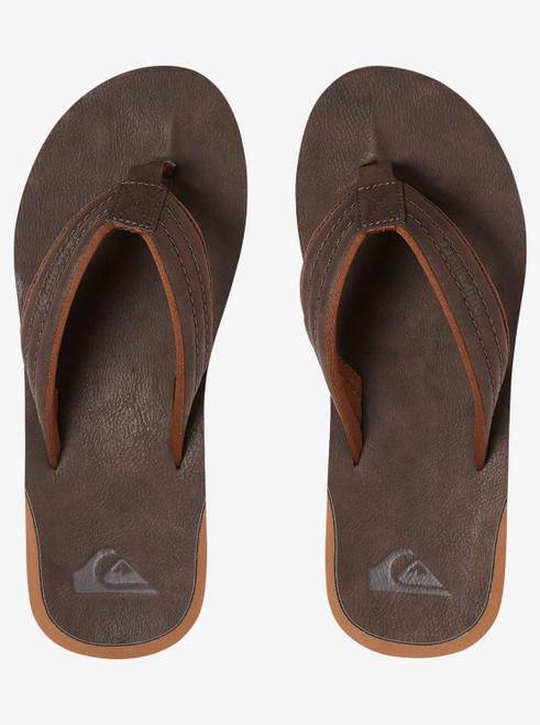 Quiksilver Mens Water Friendly Sandals ~ Carver Nubuck demitasse