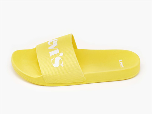 Levi Mens Slip On Sandals ~ June Mono yellow