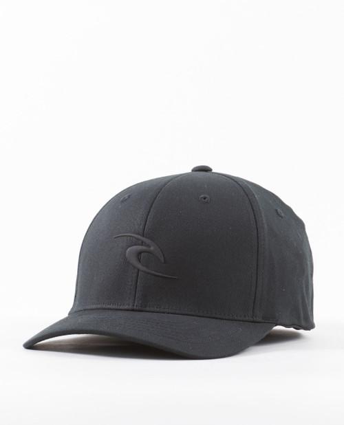 Rip Curl Men's Flexfit Cap ~ Tepan Weld black
