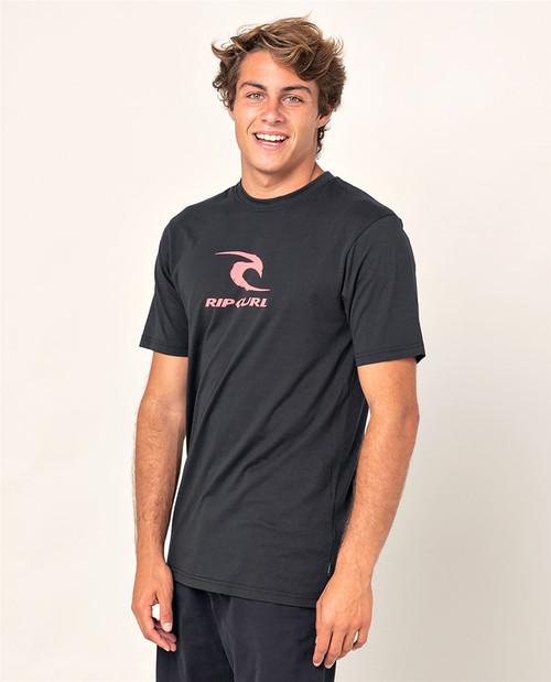 Rip Curl Men's T-Shirt ~ Icon Used black
