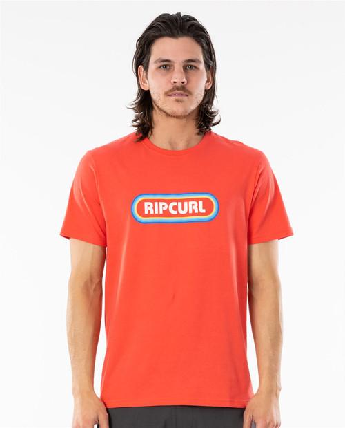 Rip Curl Men's T-Shirt ~ Surf Revival cayenne