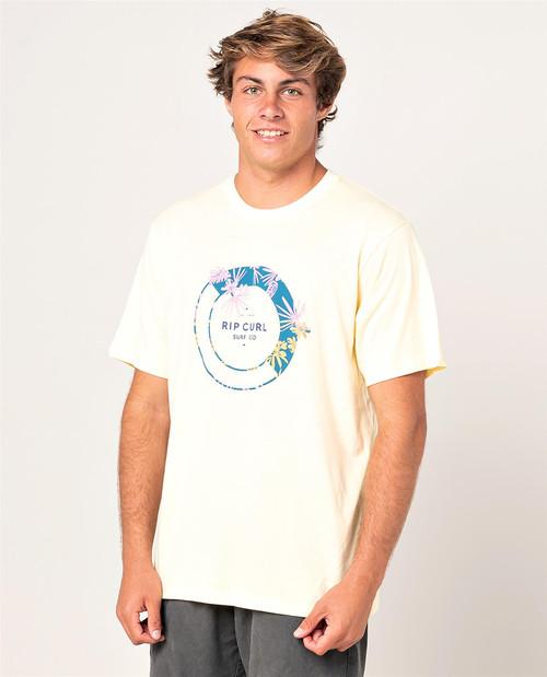 Rip Curl Men's T-Shirt ~ Filter lt yellow