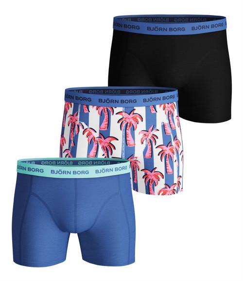 Bjorn Borg Men's Boxer Shorts 3 Pack ~ Palmstripe ultramarine