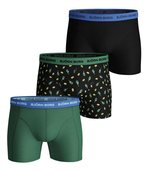 Bjorn Borg Men's Boxer Shorts 3 Pack ~ Lemonsplash black