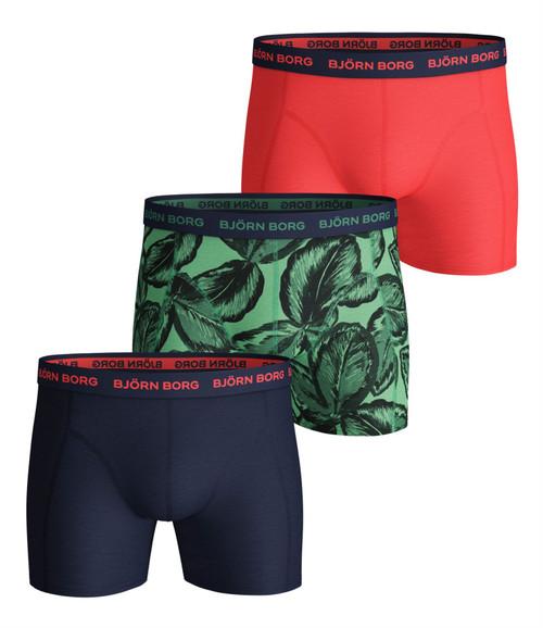 Bjorn Borg Men's Boxer Shorts 3 Pack ~ Leafy lichen