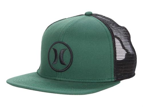 Hurley Men's Trucker Cap ~ Circle green