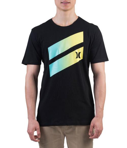Hurley Men's T-Shirt ~ Icon Slash Gradient yellow