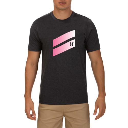 Hurley Men's T-Shirt ~ Icon Slash Gradient pink