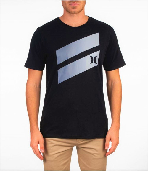 Hurley Men's T-Shirt ~ Icon Slash Gradient grey
