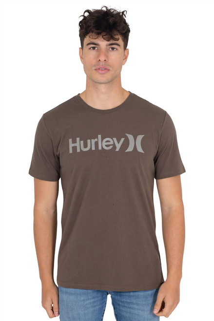 Hurley Men's T-Shirt ~ Everyday Wash Solid brown
