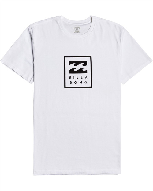 Billabong Men's T-Shirt ~ Unity Stacked white