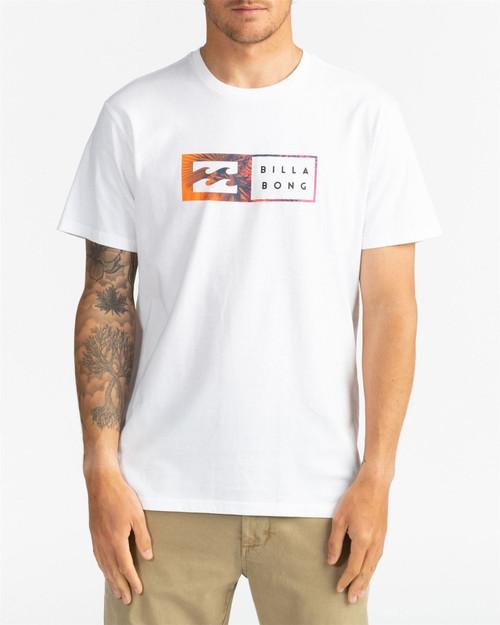 Billabong Men's T-Shirt ~ Inversed white