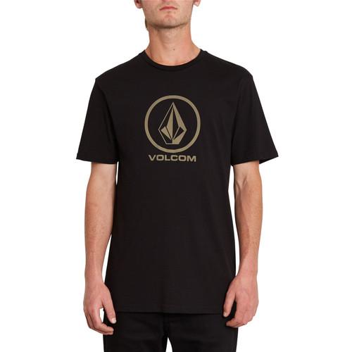 Volcom Men's Organic Cotton T- Shirt ~ Crisp Stone black
