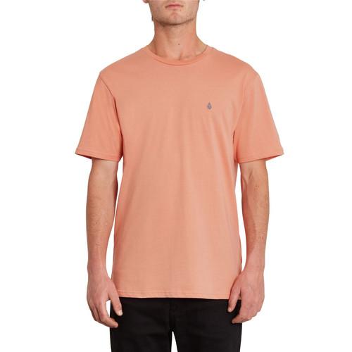 Volcom Men's Organic Cotton T- Shirt ~ Stone Blanks orange