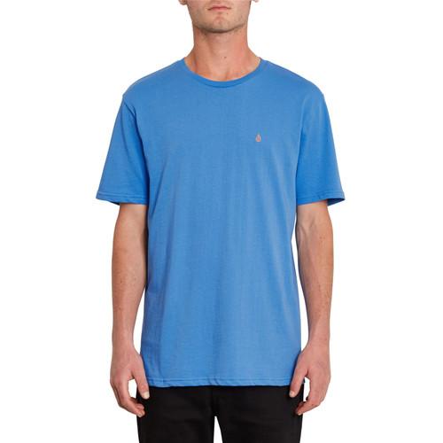 Volcom Men's Organic Cotton T- Shirt ~ Stone Blanks blue