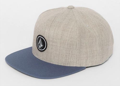 Volcom Men's Snapback Cap ~ Quarter Twill CHB