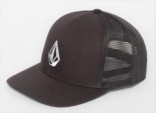 Volcom Men's Trucker Snapback Cap ~ Full Stone Cheese 110 BLK
