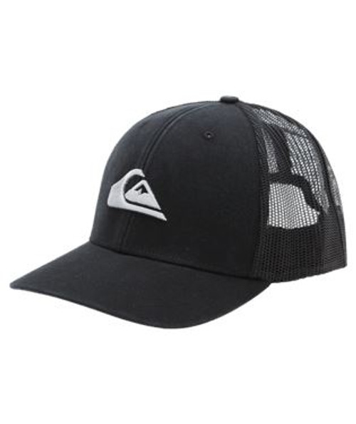 Quiksilver Men's Snapback Trucker Cap~ Grounder black