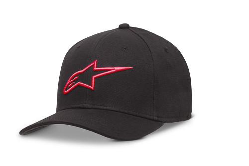 Alpinestars Men's Flexfit Cap ~ Ageless Curve black red
